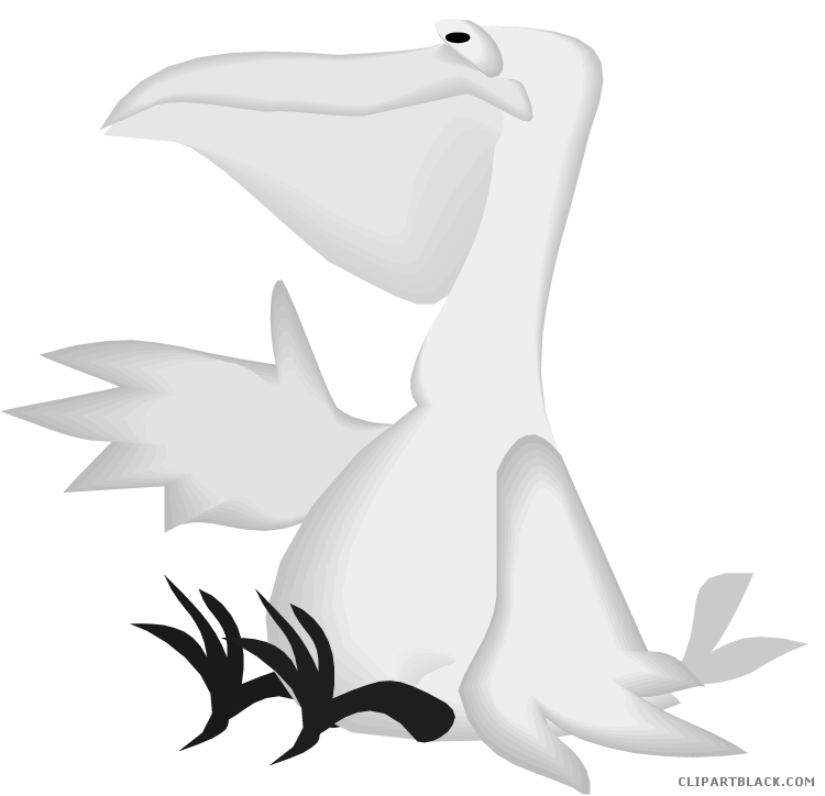 Free White Pelican Clipart in AI, SVG, EPS or PSD
