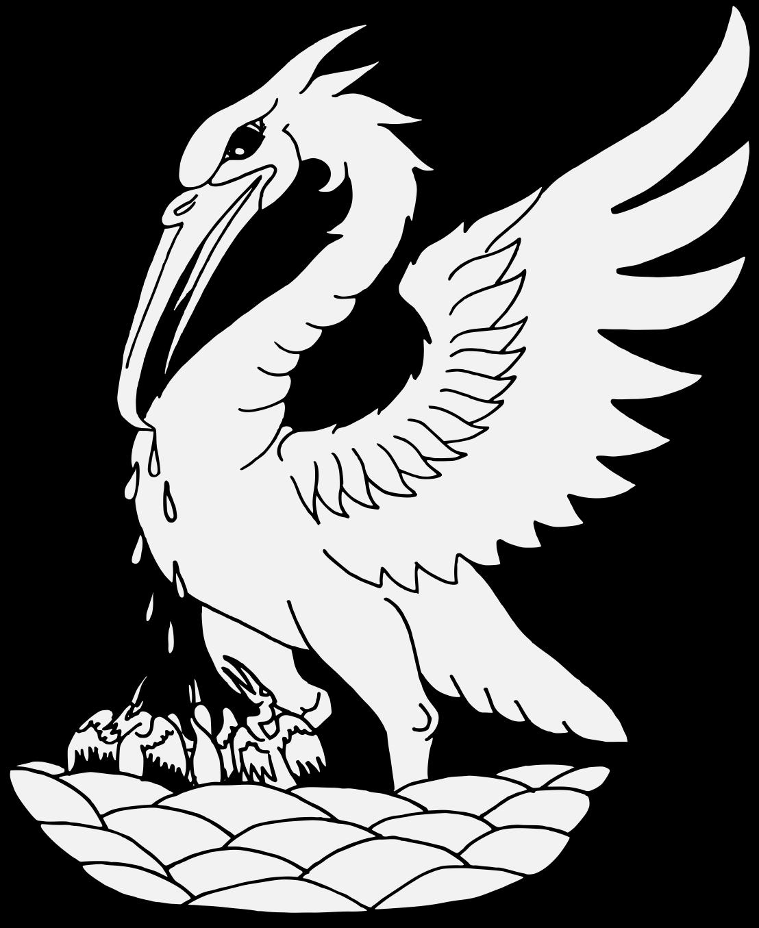 Wing clipart traceable. Pelican heraldic art pdf