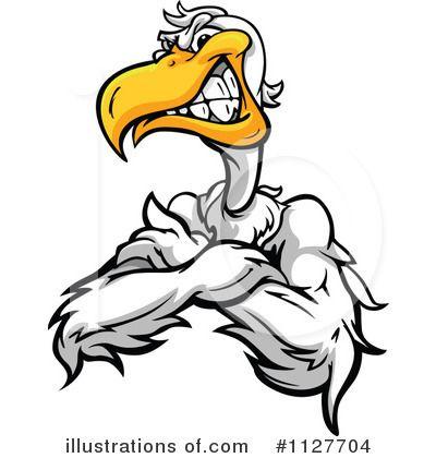 pelican clipart mascot