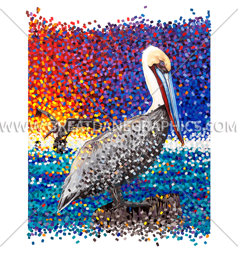 Pelican clipart vector. Pixels production ready artwork