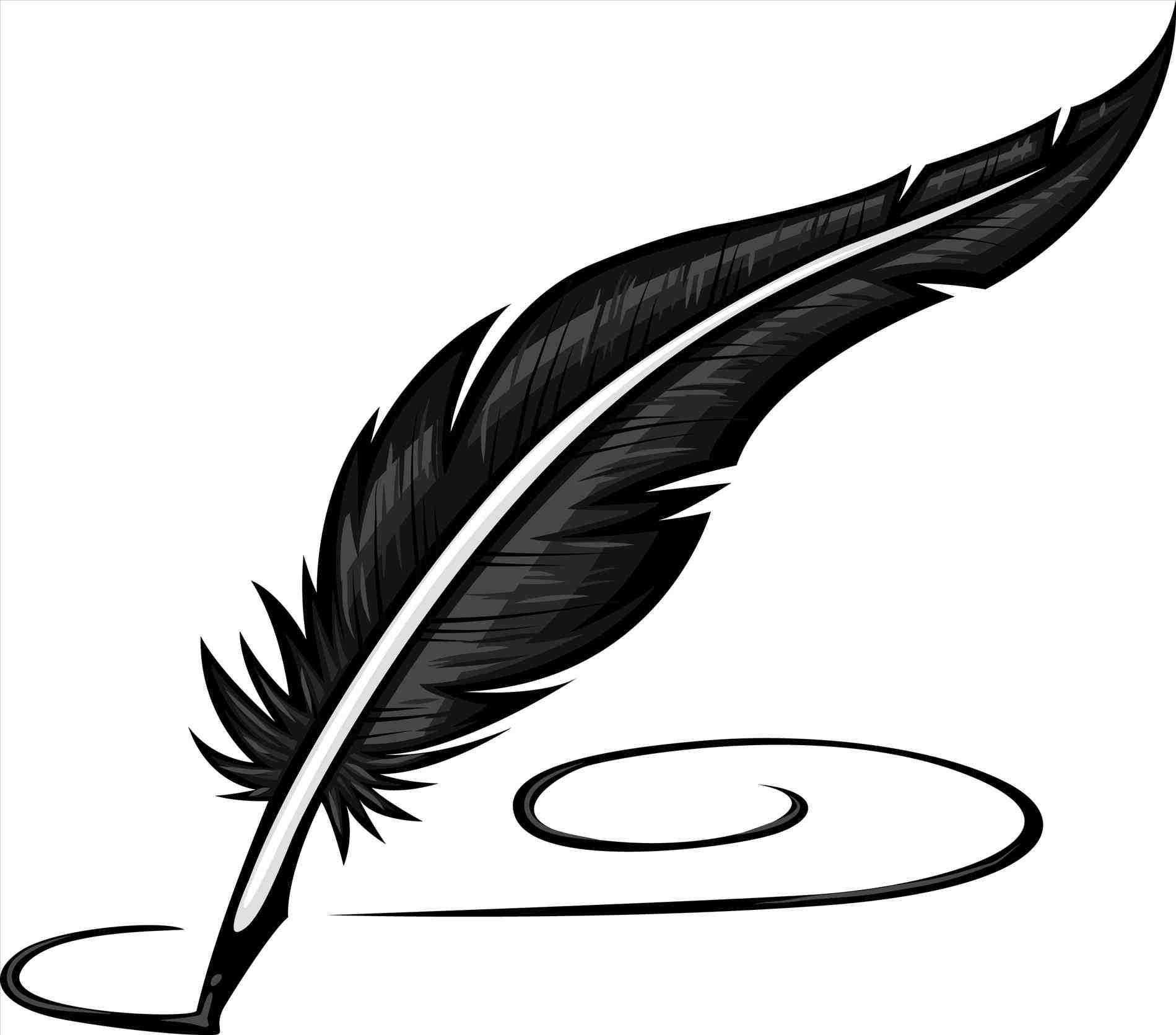 Feather clipartrhworldartsmecom ink u. Pen clipart