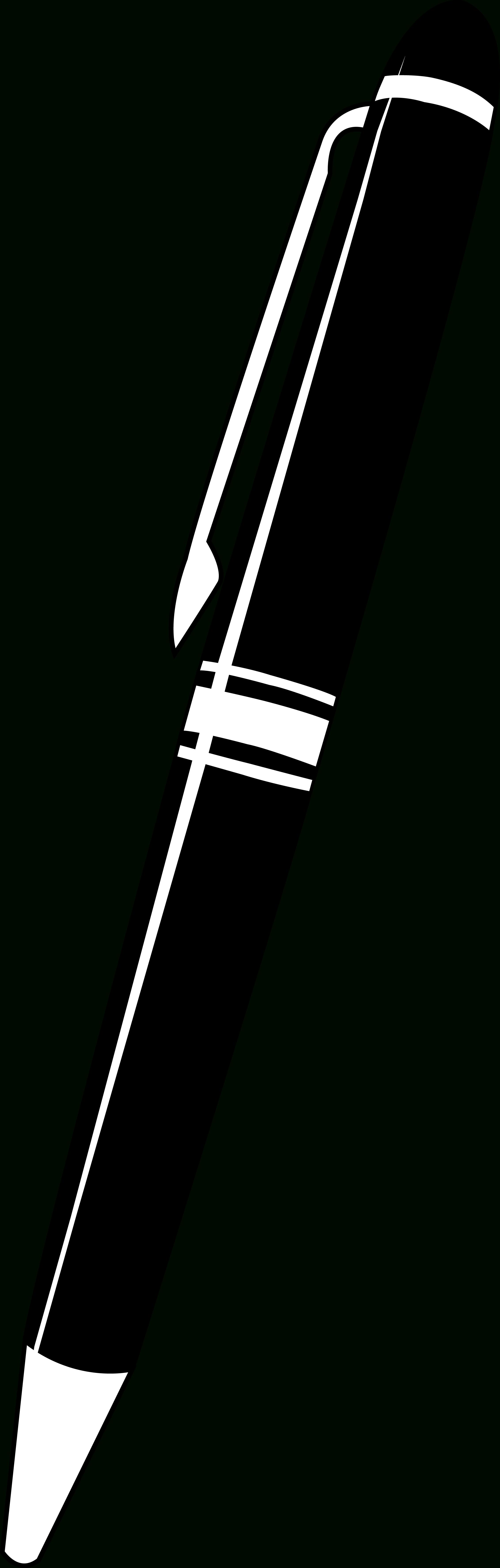 Black and white letters. Pen clipart elegant