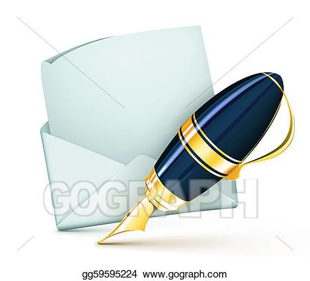 Pen clipart elegant. Stock illustration fountain