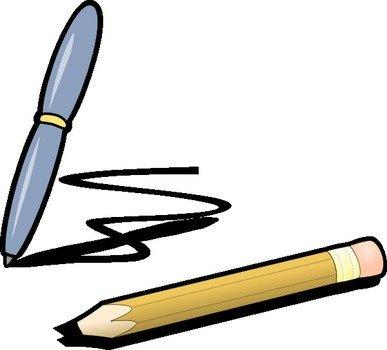 Clip art free image. Pen clipart pen pencil