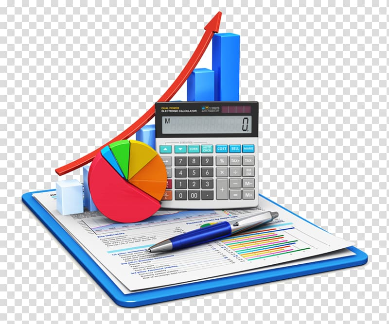 White and black desktop. Statistics clipart accounting