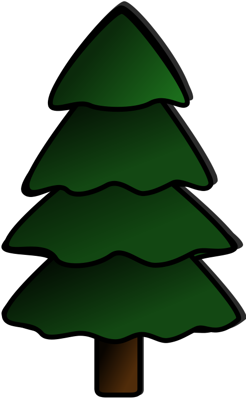 Tree clipart pencil. Christmas plain and in