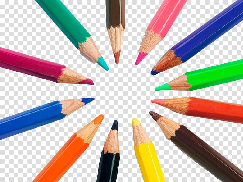 Pencil clipart creative. Colored drawing crayon furnishings