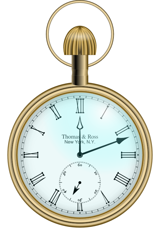 Pocket watch i royalty. See clipart timepiece