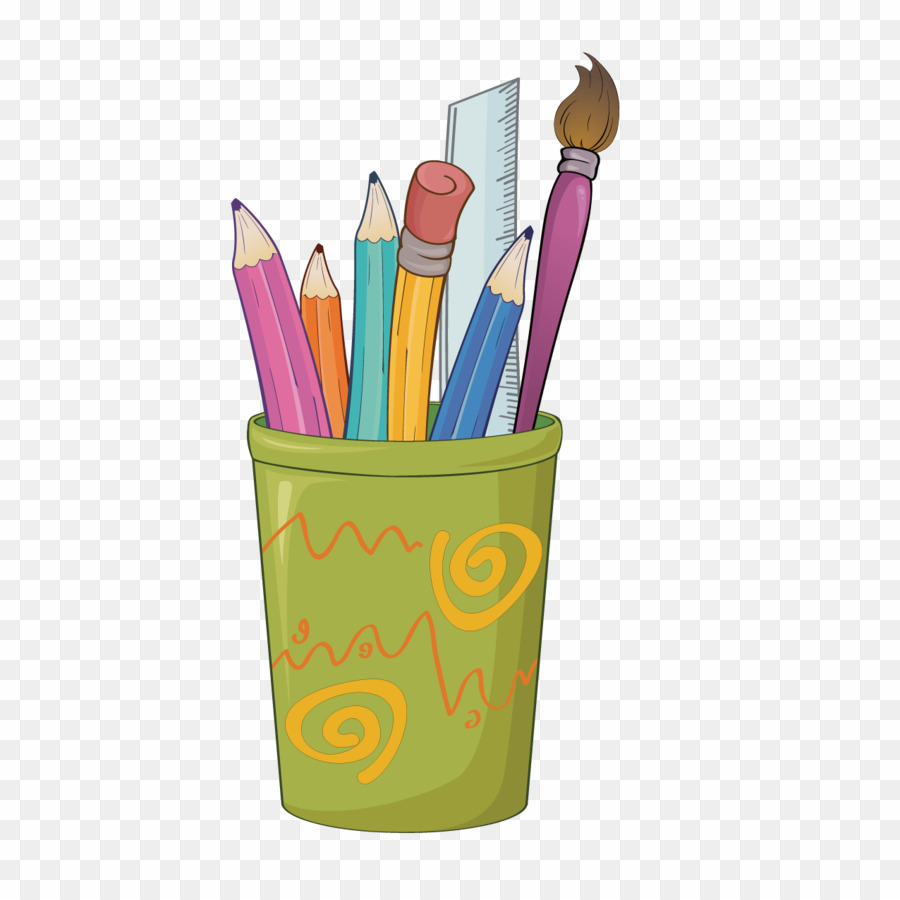 Drawing of png colored. Pencil clipart stationery