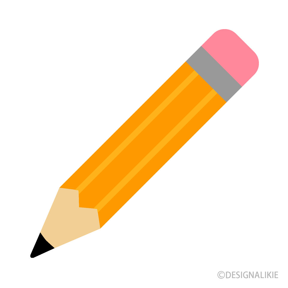 Flat free picture illustoon. Pencil clipart stationery