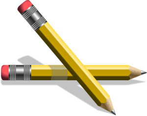 Pencils clipart. Yellow clip art at