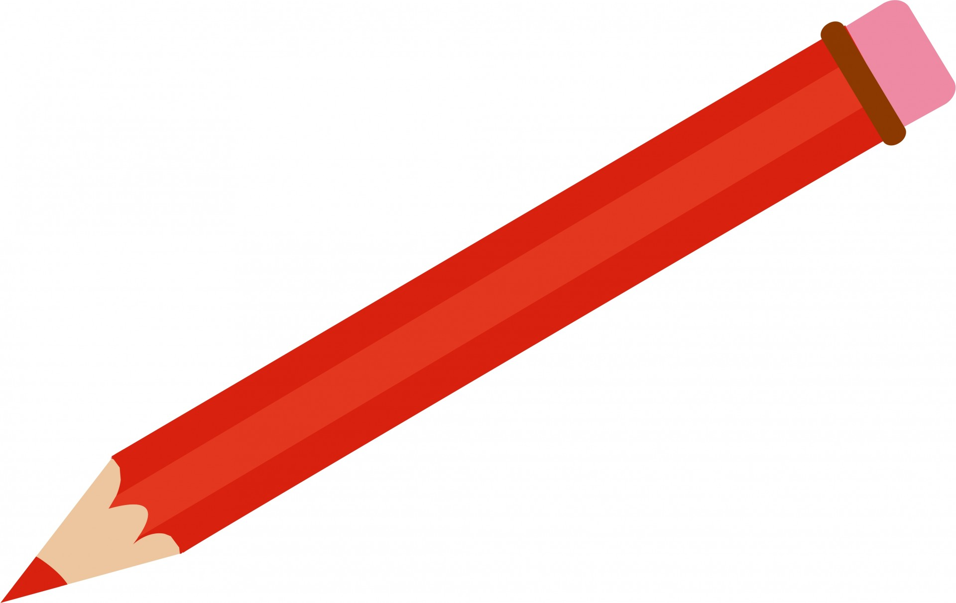 Pencil clipart. Red free stock photo