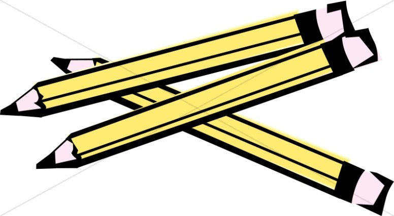 Pencils clipart. Three wooden christian classroom