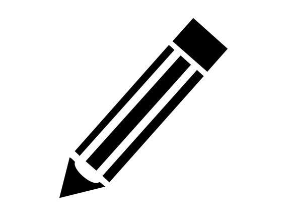 Pencil svg school cutting. Pencils clipart silhouette
