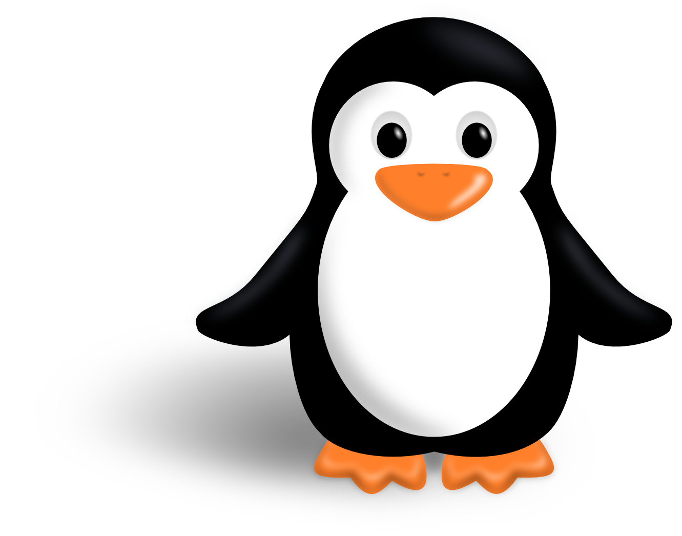 Penguin clipart. Boy