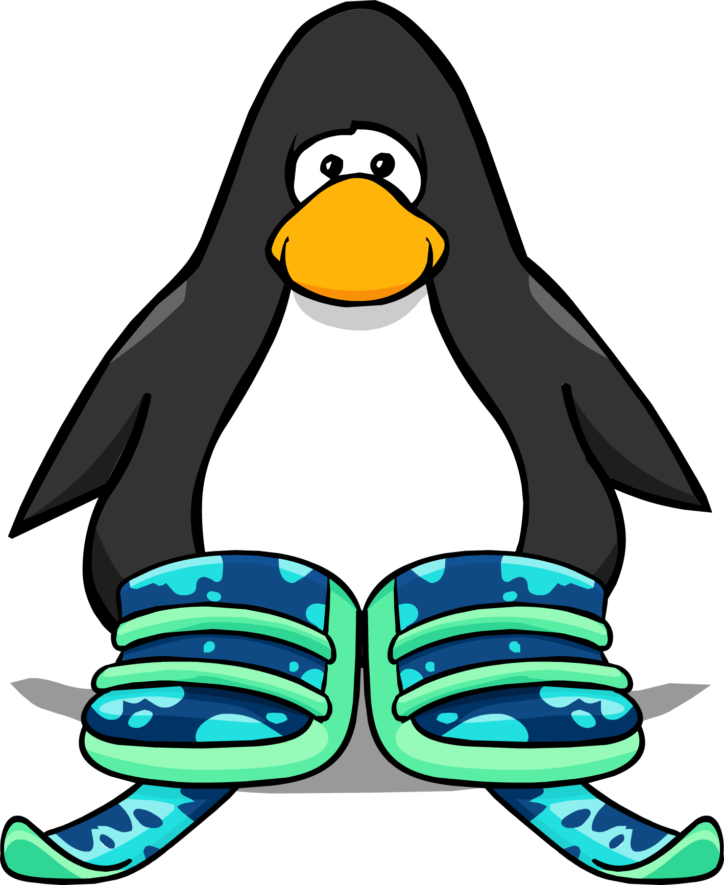 Penguins clipart skiing. Image cool ski boots