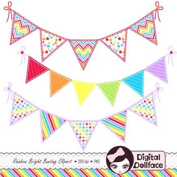Banner clip art rainbow. Pennant clipart