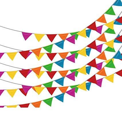 Amazon com feet multicolor. Pennant clipart festival banner