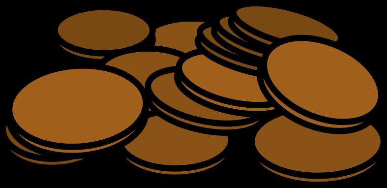 Pennies clipart. Medium image png