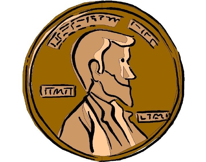 Penny clip art remove. Pennies clipart