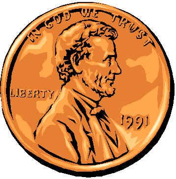 pennies clipart