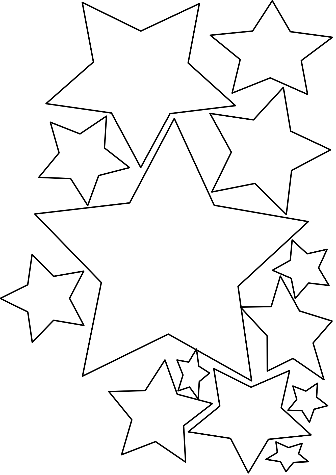 Pennies clipart coloring page. Great source for stars