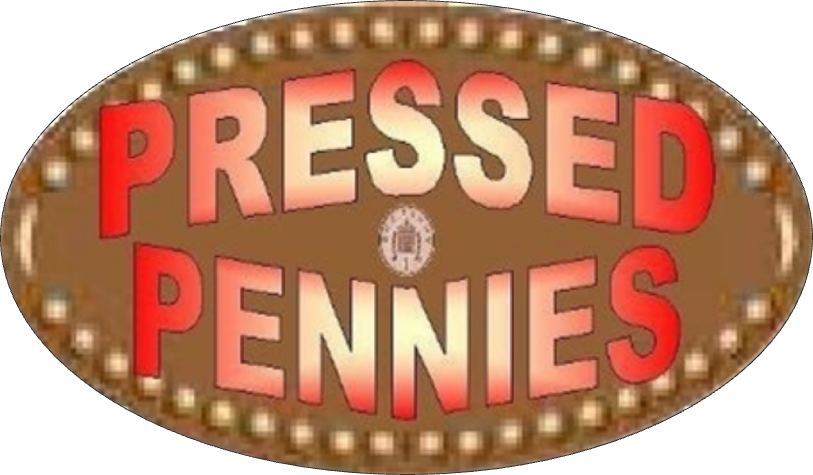 Pennies clipart copper penny. Elongated coins presses pressed