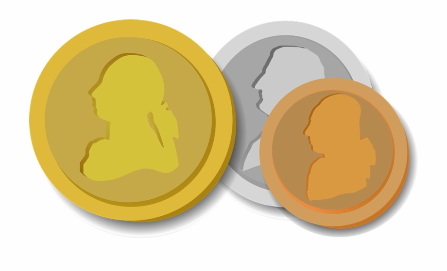 Pennies clipart copper penny. Coins money gold silver