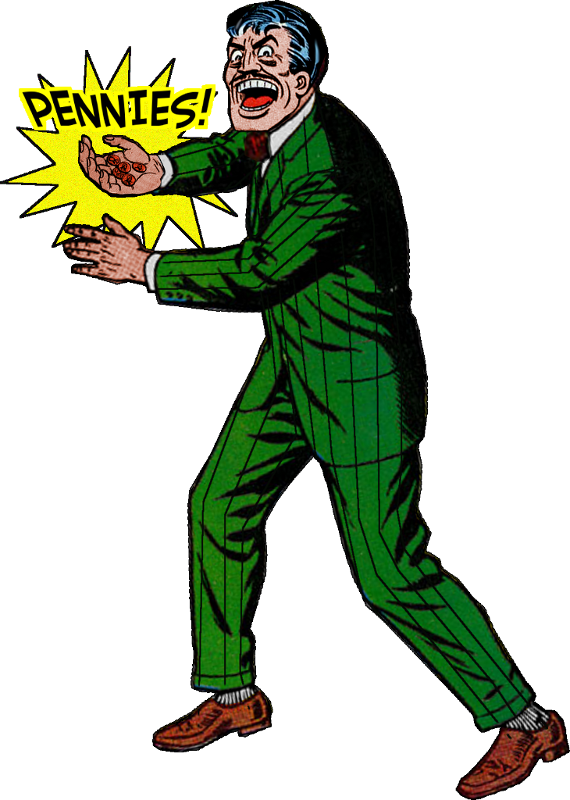 Misfit robot daydream batman. Pennies clipart copper penny