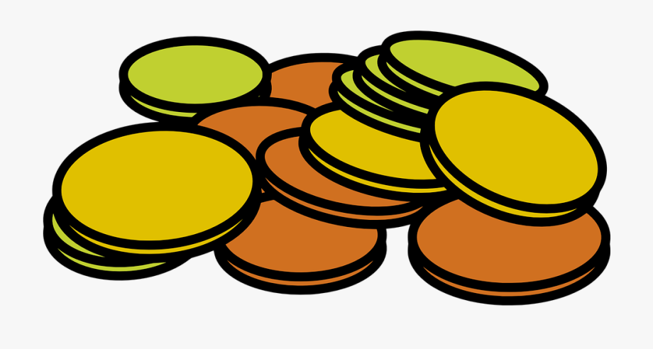 Coins money stack cash. Pennies clipart currency