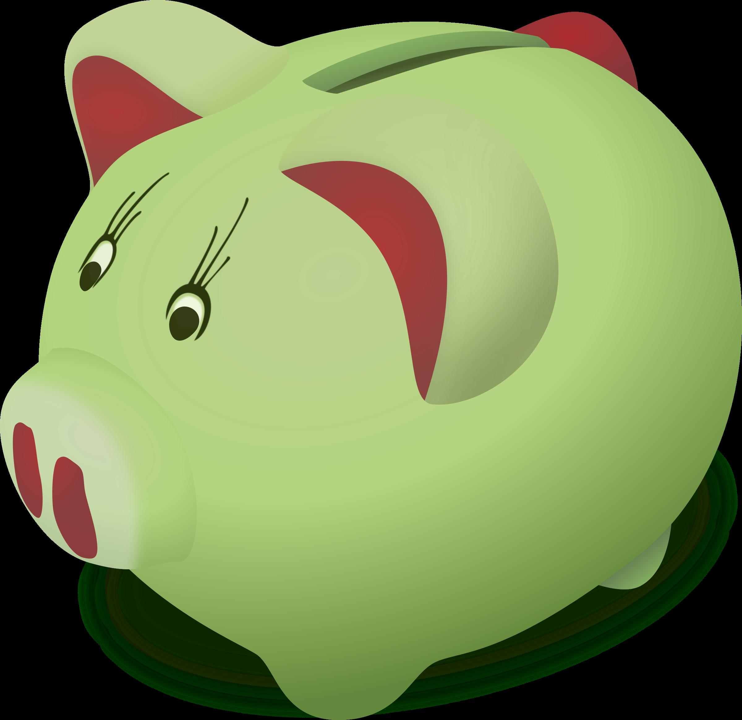 Piggybank by doofi why. Pennies clipart cute