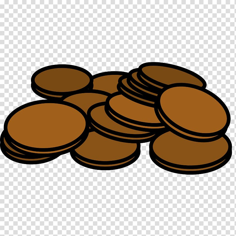 Pennies clipart pennie. Penny coin cent transparent