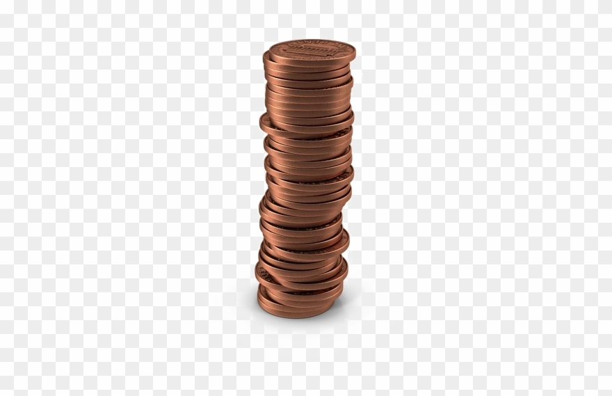 Png download free pic. Pennies clipart stack penny
