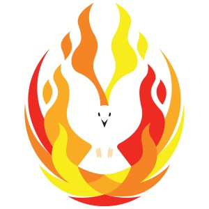 Holy spirit dove fire. Pentecost clipart