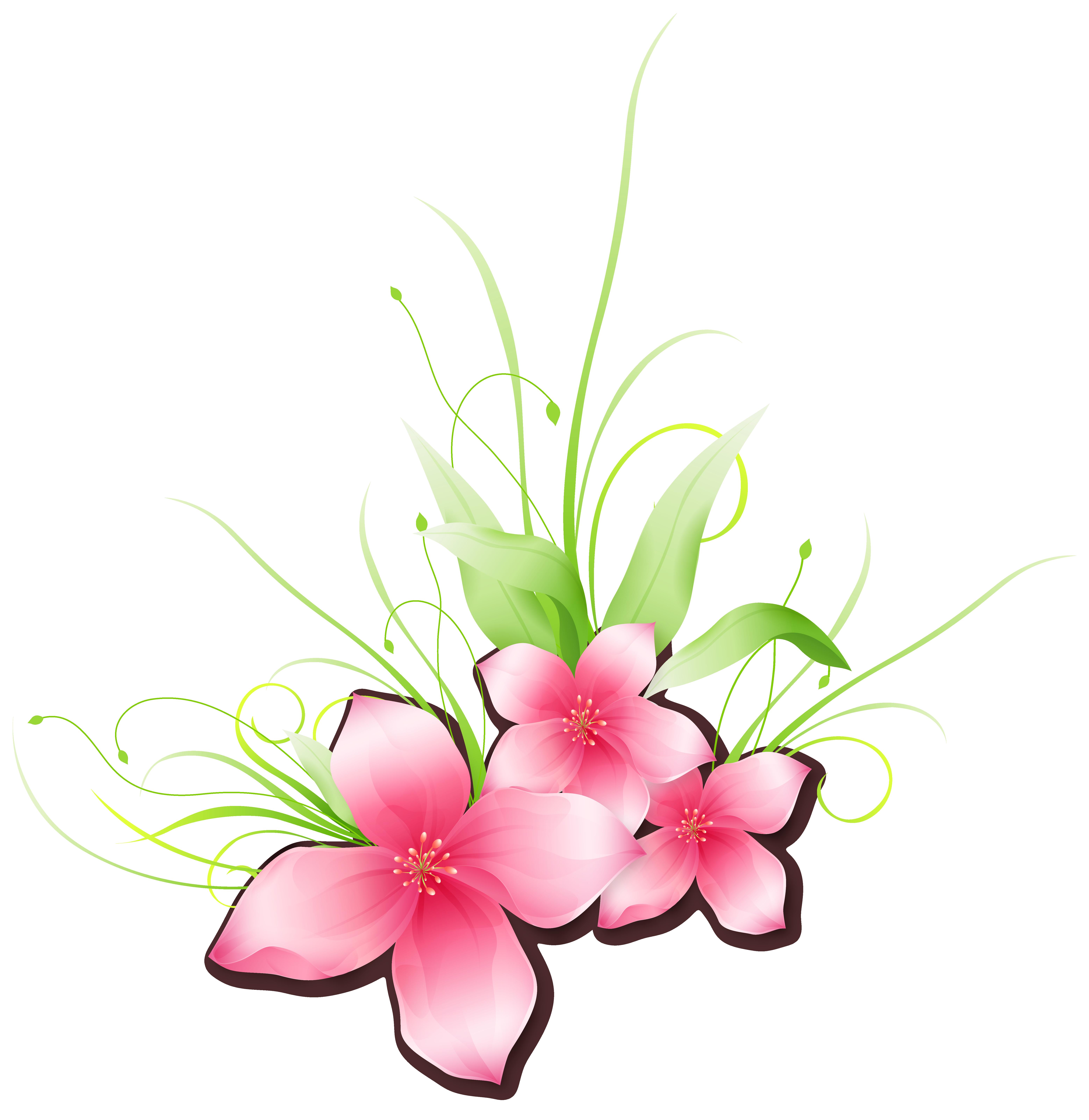 Pink flowers tulip clip. Flower art png
