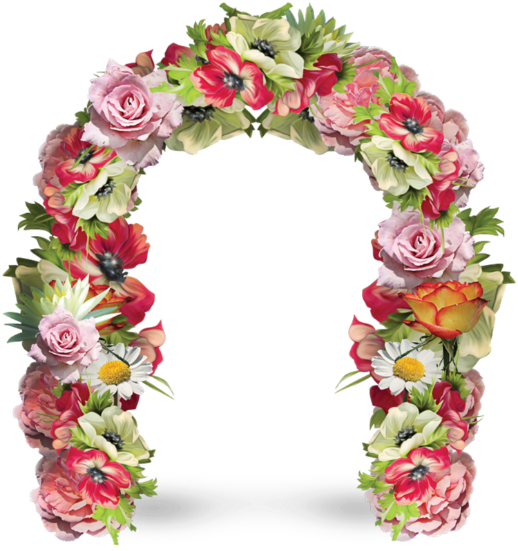 Forgetmenot arches flowers. Flower arch png