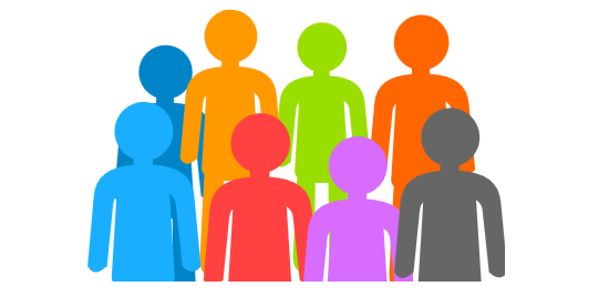 Multiple . People clipart