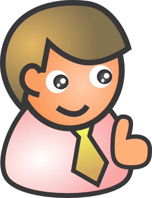 People clipart smile. Biz male i royalty