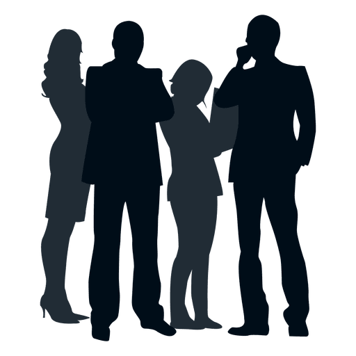 People vector png. Silhouette at getdrawings com