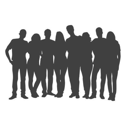 Group silhouette transparent svg. People vector png