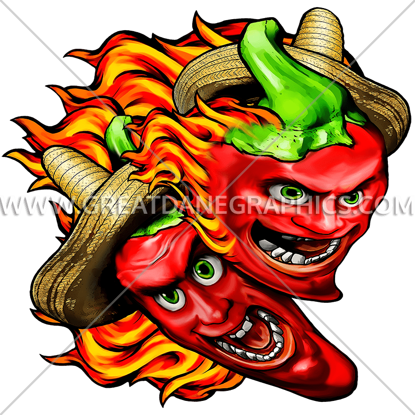 Crazy peppers production ready. Pepper clipart chili mexican