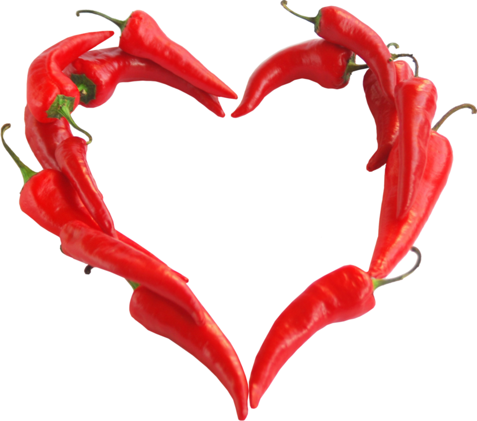Peppers clipart chille. Chili pepper heart by