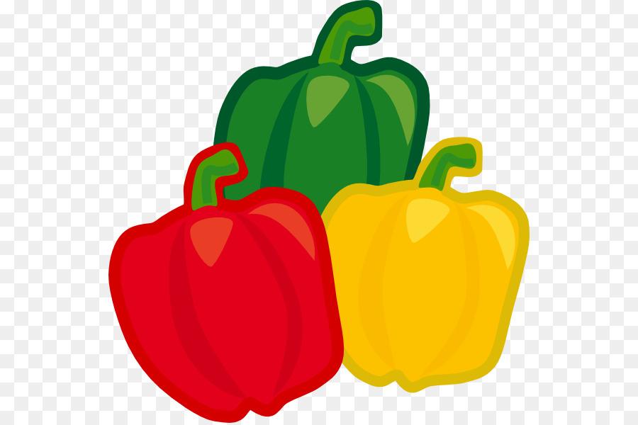 Apple cartoon vegetable yellow. Pepper clipart clip art