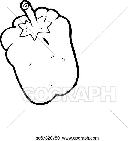 Cartoon gg gograph . Pepper clipart drawing