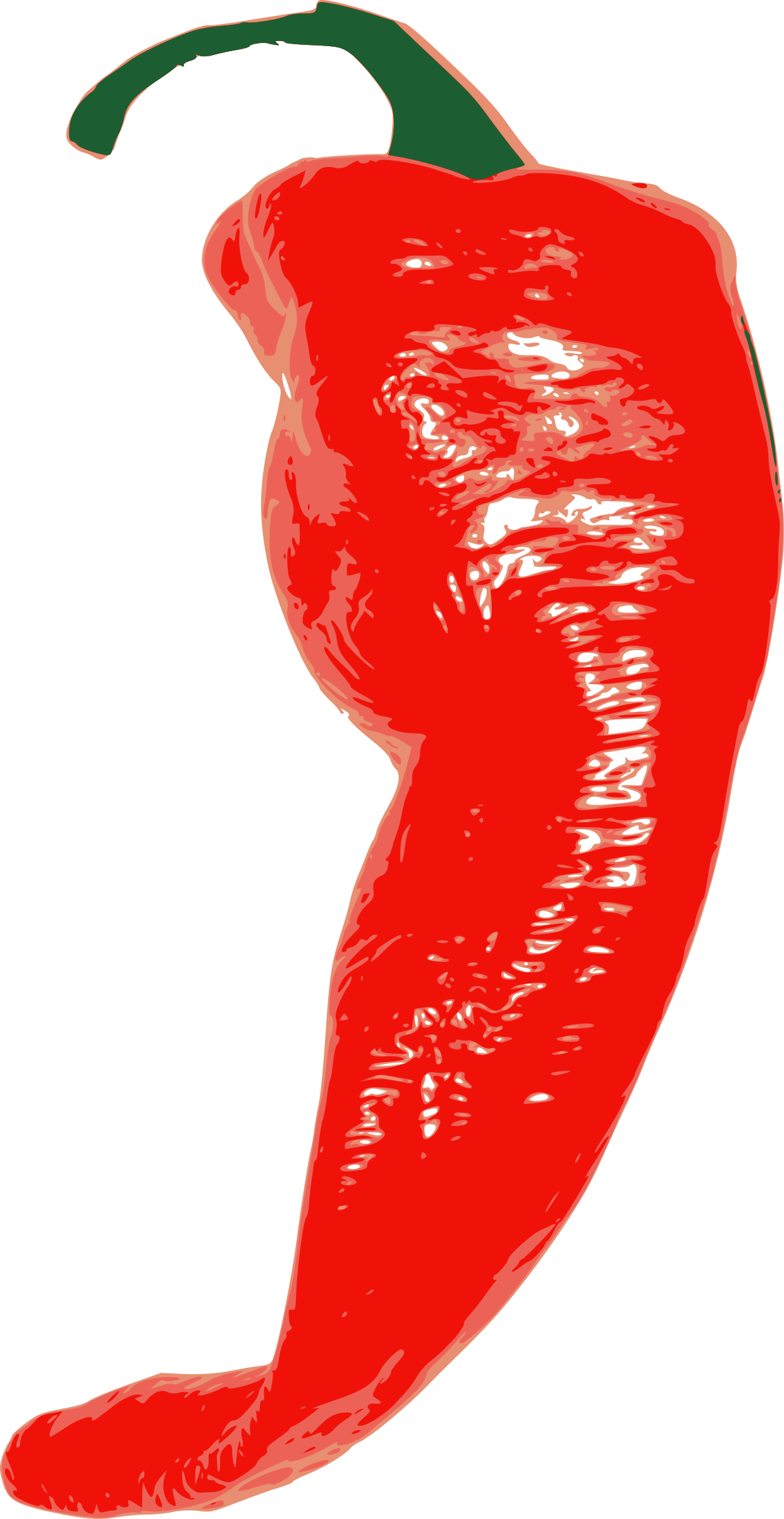 Cayenne chili pepper big. Red clipart chilly