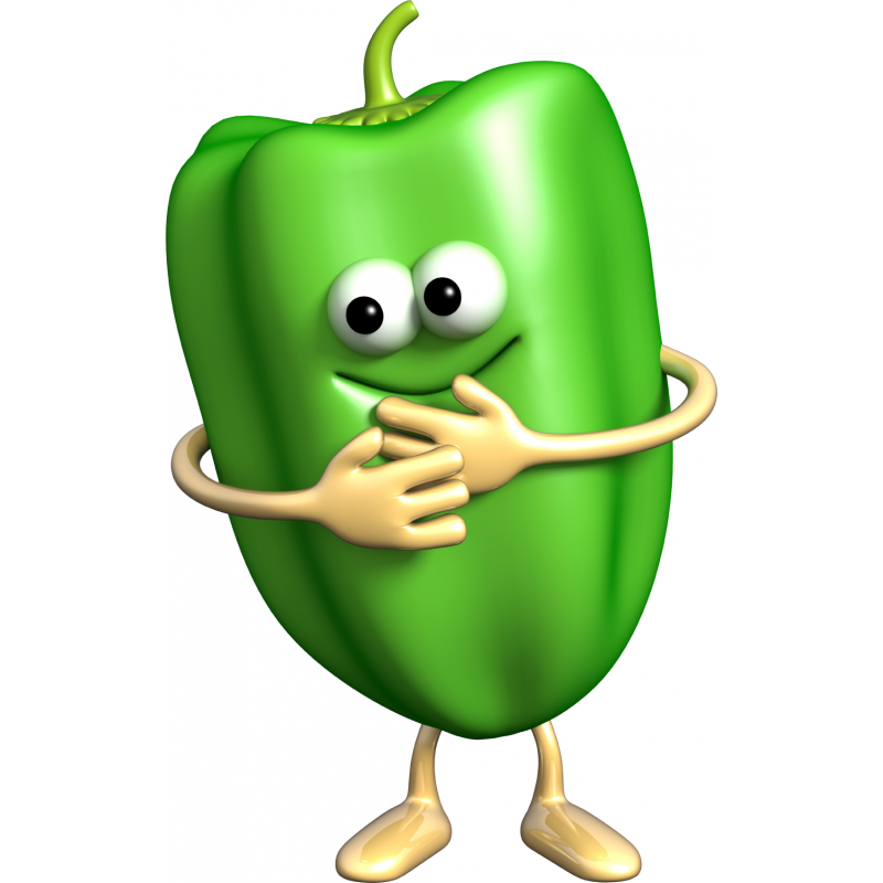 Peppers clipart green vegetable. Funny pepper stickers fruits