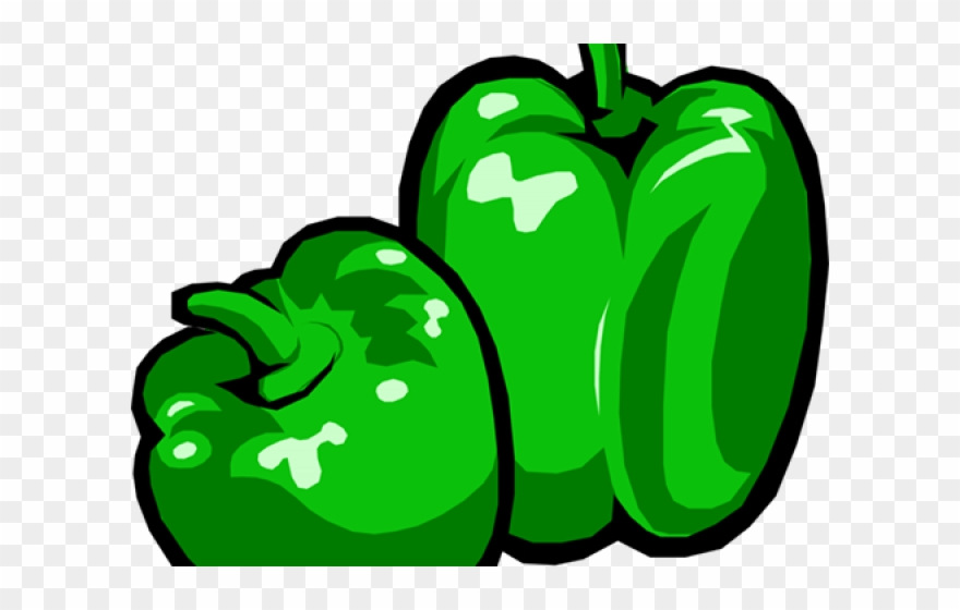 Peppers clipart green pepper. Bell capsicum clip art