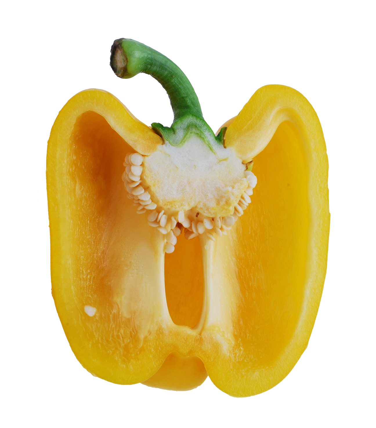 Peppers clipart yellow pepper. Bell half png image