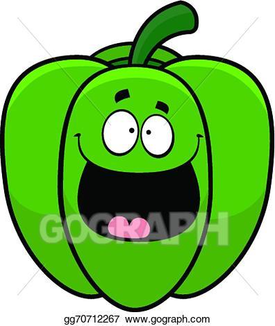 Pepper clipart happy. Vector illustration cartoon bell