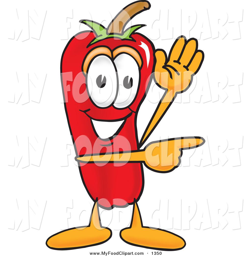 Food clip art of. Pepper clipart happy